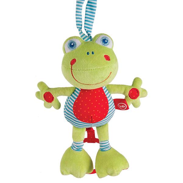 Happy Baby 330361 Подвесная музыкальная игрушка-растяжка Лягушка
