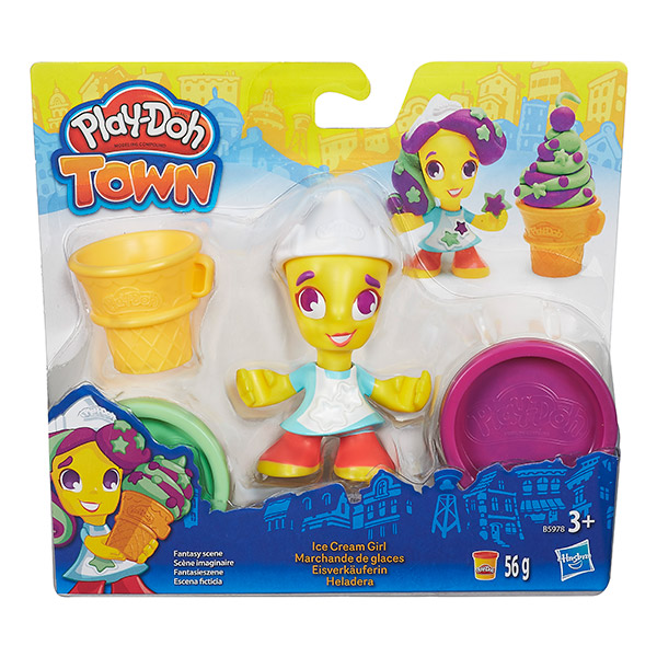 Hasbro Play-Doh B5960 Игровой набор Город Фигурки (в ассортименте) hasbro play doh b5517 игровой набор из 4 баночек в ассортименте обновлённый