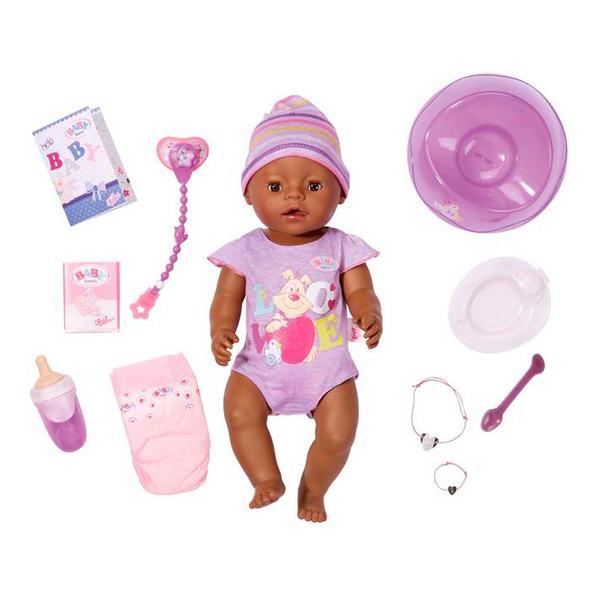 Zapf Creation Baby born 822-029 Бэби Борн Кукла Интерактивная Этническая, 43 см