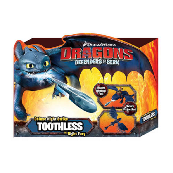 Dragons 66555_1 Дрэгонс Большой дракон Беззубик, дышит огнем