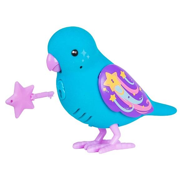 Little Live Pets 28397 Интерактивная птичка голубая с фиолетовым клювом zippi pets zippi pets интерактивная игрушка летающая птичка синяя