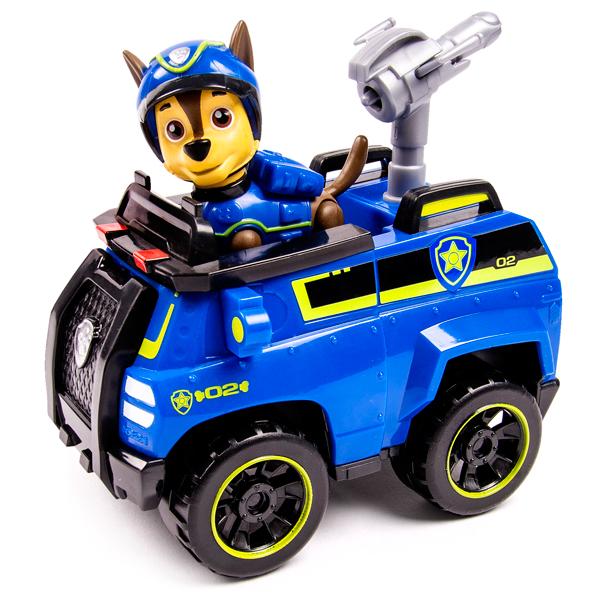 Paw Patrol 16601-Cha Щенячий патруль Машинка спасателя и щенок (Чейз) (в ассортименте) игрушка spin master paw patrol мини машинка спасателя с фигуркой героя 16721