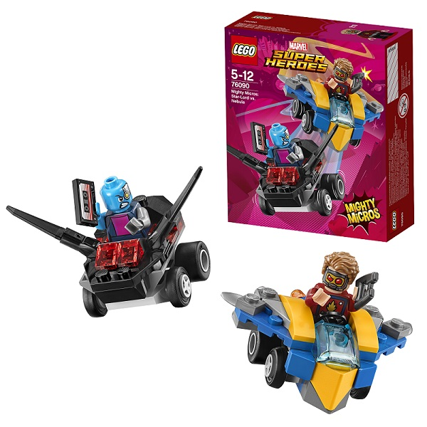 Lego Super Heroes Mighty Micros 76090 Конструктор Лего Супер Герои Звёздный Лорд против Небулы lego 76069 super heroes mighty micros бэтмен против мотылька убийцы