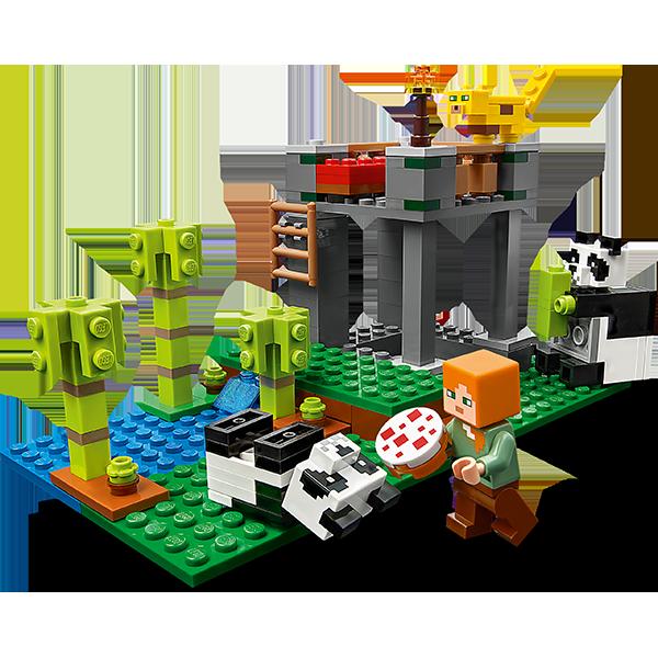 LEGO Minecraft 21158 Конструктор ЛЕГО Майнкрафт Питомник панд