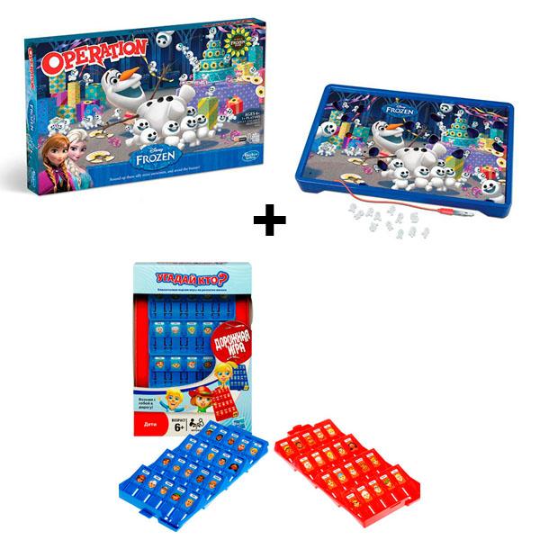 Hasbro Other Games B4504N Операция Холодное сердце + Угадай кто? Дорожная игра настольные игры hasbro операция холодное сердце