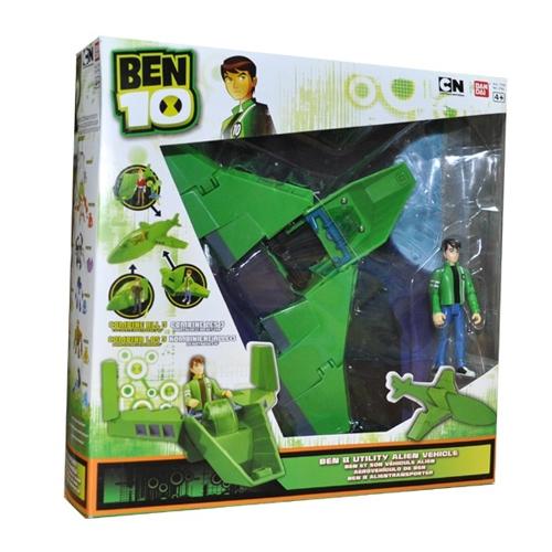 Ben10 37960_1 Бен 10 Сезон 3 Мини-корабль с фигуркой 10 см (в ассортименте)