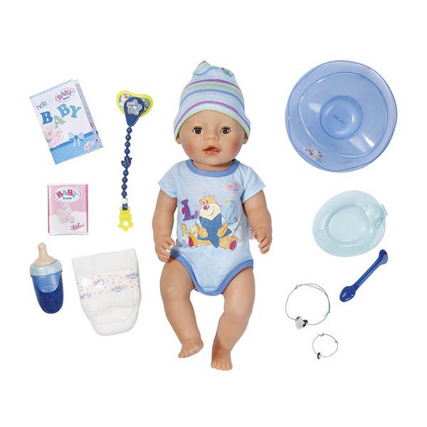 Zapf Creation Baby born 822-012 Бэби Борн Кукла-мальчик Интерактивная, 43 см кукла zapf creation baby born мальчик 43 см пьющая плачущая