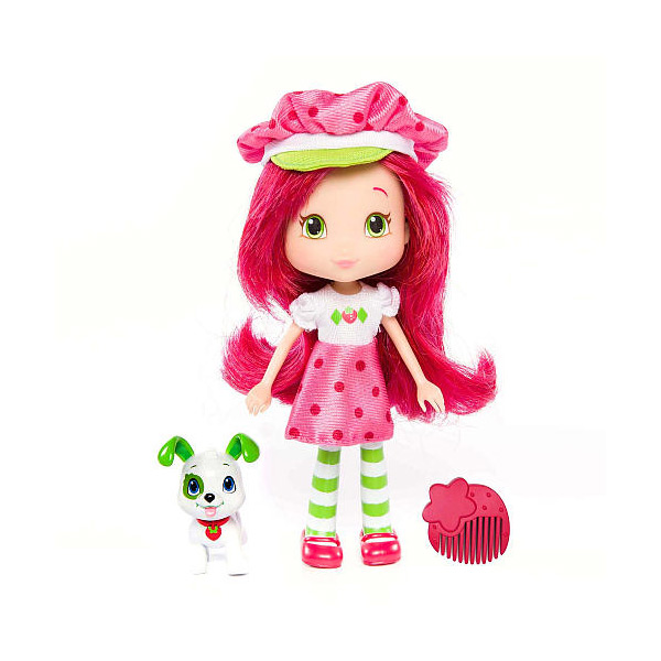 Strawberry Shortcake 12231 Шарлотта Земляничка Кукла 15 см с питомцем, Земляничка куклы gulliver кукла земляничка 50 см