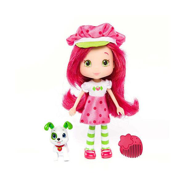 Strawberry Shortcake 12231 Шарлотта Земляничка Кукла 15 см с питомцем, Земляничка