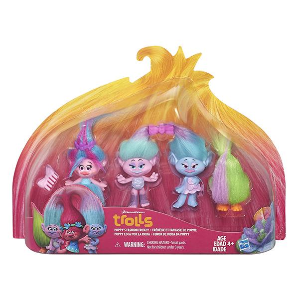 Hasbro Trolls B6557 Тролли 4 героя в игровом наборе (в ассортименте)