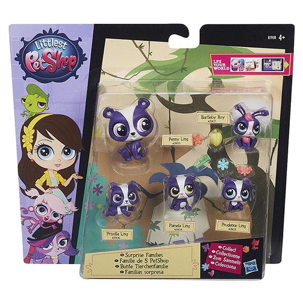 """Hasbro Littlest Pet Shop B1902 Литлс Пет Шоп Игровой набор """"Большая семейка"""" (в ассортименте)"""
