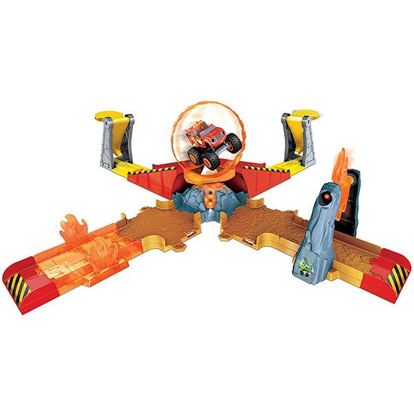 """цена на Mattel Blaze DGK85 Игровой набор """"Прыжок через пылающий вулкан"""""""