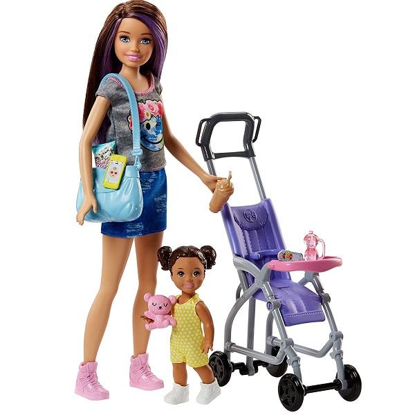 Mattel Barbie FJB00 Барби Набор Няня мозаики barbie набор мозаика клатч барби