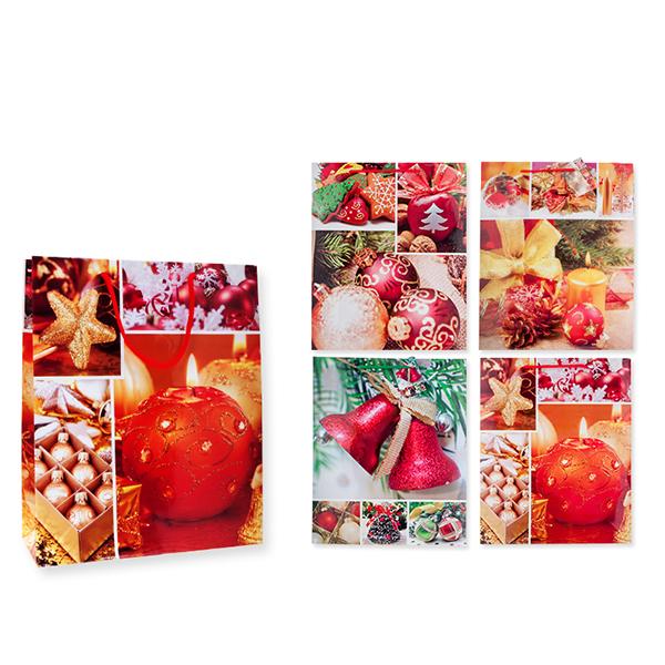 Пакет подарочный бумажный, НОВОГОДНИЙ S1529 32х45х10 см, 6 видов (в ассортименте) пакет подарочный бумажный 3 вида tz14038 32 26 12 см в ассортименте