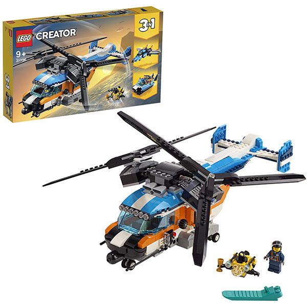 LEGO Creator 31096 Конструктор ЛЕГО Криэйтор Двухроторный вертолёт стоимость