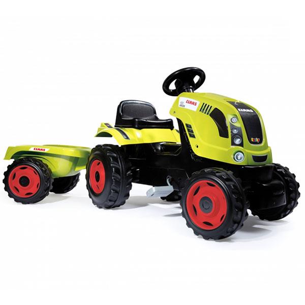 Smoby 710114 Трактор педальный XL с прицепом, CLAAS smoby 710108 трактор педальный xl с прицепом красный