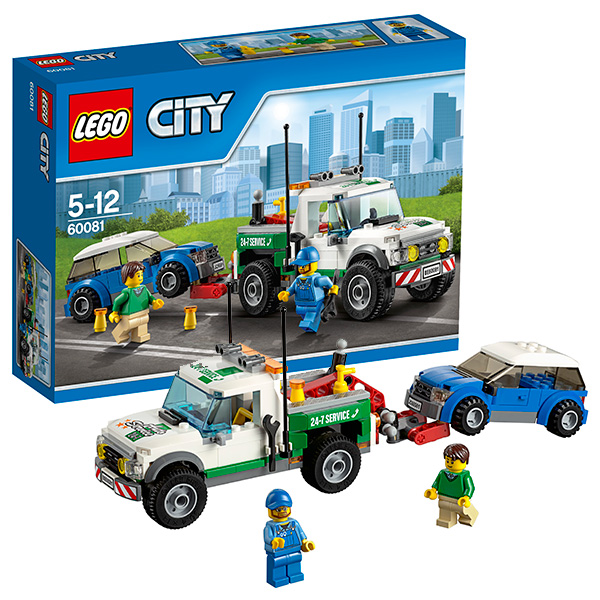 LEGO City 60081 Конструктор ЛЕГО Город Буксировщик автомобилей