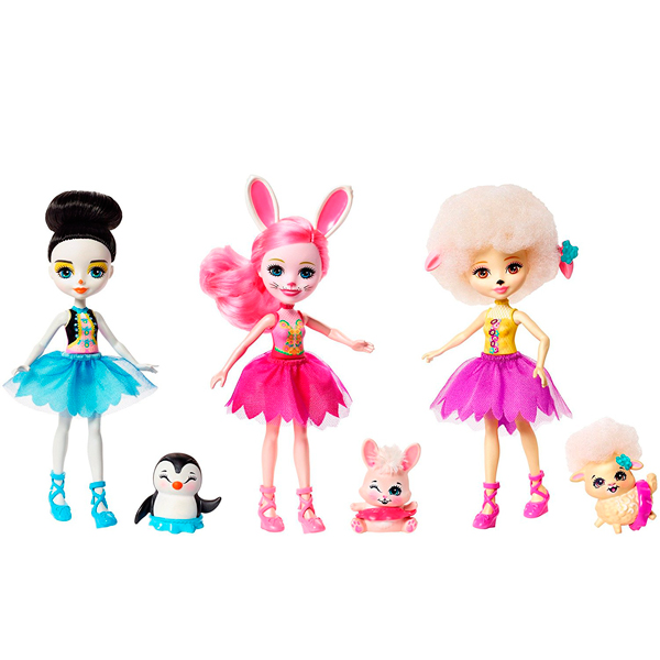 """Mattel Enchantimals FRH55 Набор из трех кукол """"Волшебные балерины"""""""