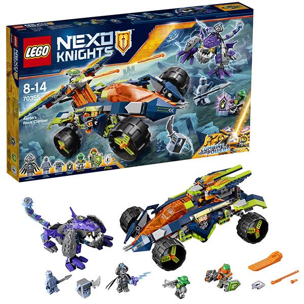 Lego Nexo Knights 70355 Конструктор Лего Нексо Вездеход Аарона 4x4 ластики lego набор ластиков 4 шт lego nexo knights рыцари нексо