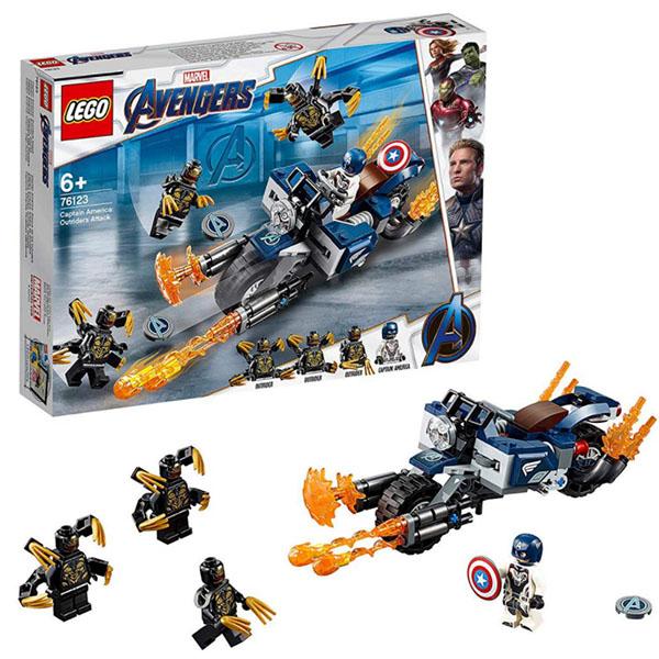 LEGO Super Heroes 76123 Конструктор ЛЕГО Супер Герои Капитан Америка: Атака Аутрайдеров цены онлайн