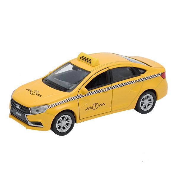 Welly 43727TI Велли Модель машины 1:34-39 LADA Vesta такси автомобиль welly lada kalina такси 1 34 39 42383