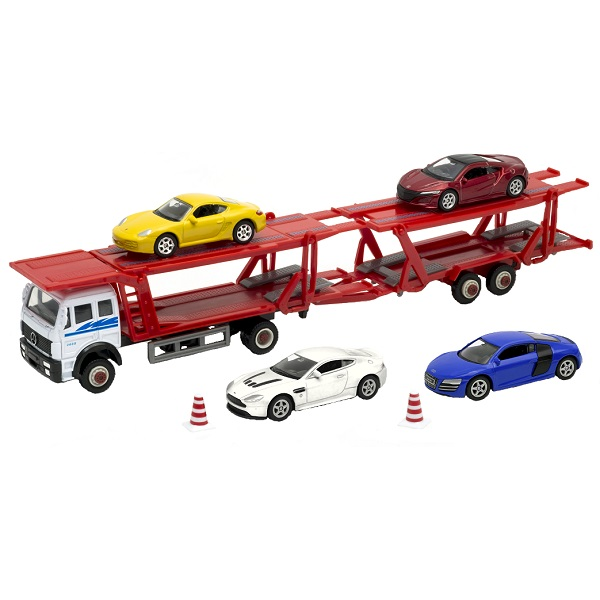 Welly 79781B Велли Автовоз с 4 спортивными машинами