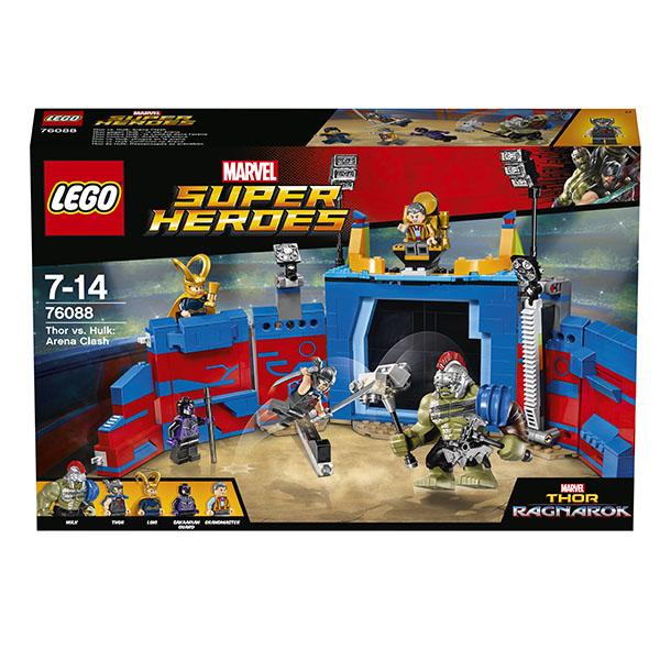 Lego Super Heroes 76088 Конструктор Лего Супер Герои Тор против Халка: Бой на арене