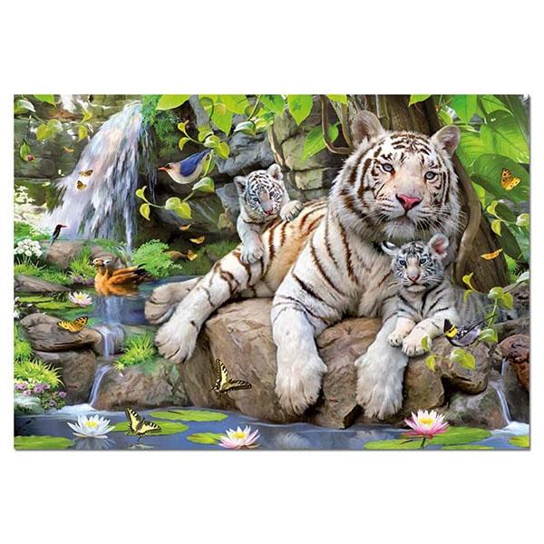 """цена на Educa 14808 Пазл 1000 деталей """"Белые Бенгальские Тигры"""""""