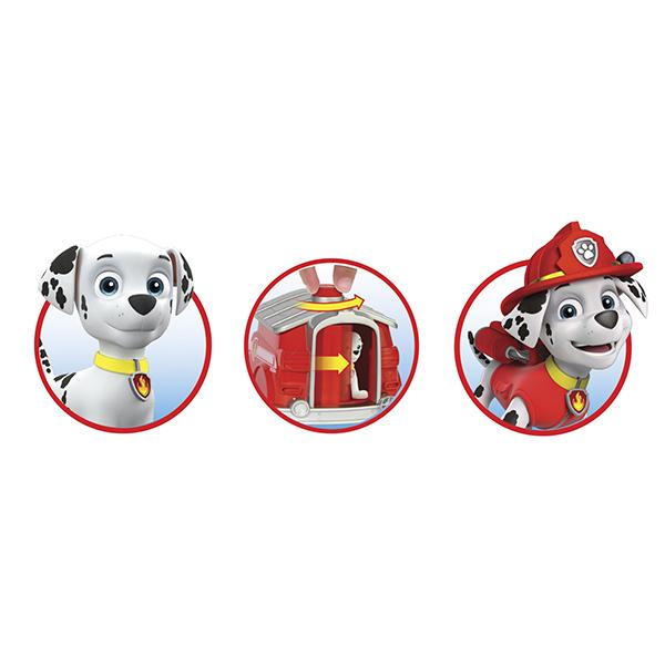 Paw Patrol 16660-Mar Щенячий патруль Игровой набор два щенка в домике