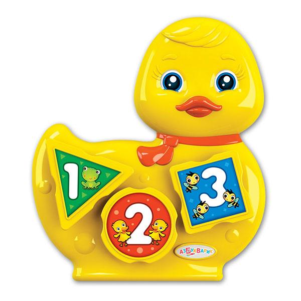 Азбукварик 2572 Музыкальный сортёр Уточка азбукварик игрушка азбукварик сказки музыкальный домик