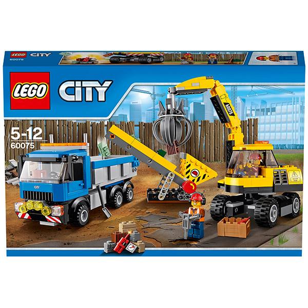 Lego City 60075 Конструктор Лего Город Экскаватор и грузовик