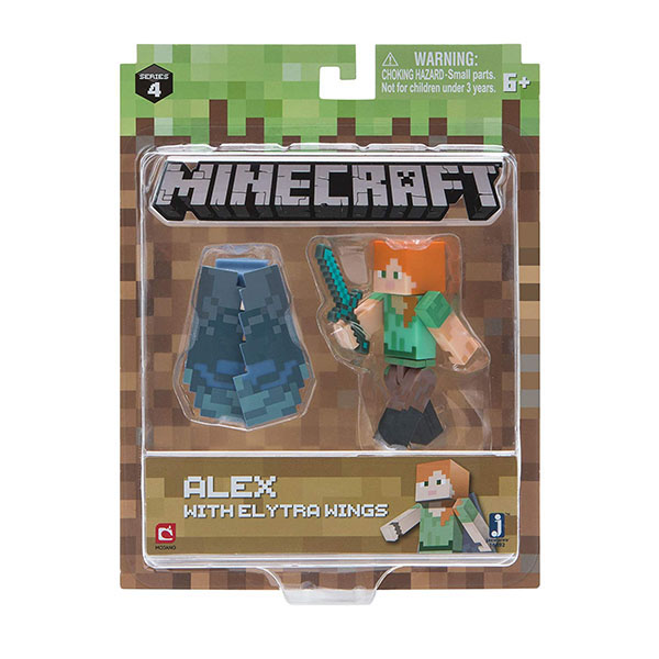 Minecraft 16492 Майнкрафт фигурка Alex with Elytra Wings