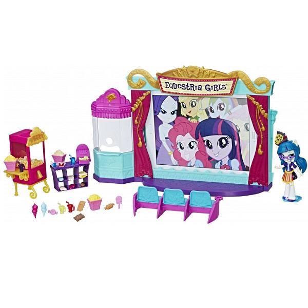 "Hasbro My Little Pony C0409 Equestria Girls Игровой набор мини-кукол ""Кинотеатр"" цена 2017"