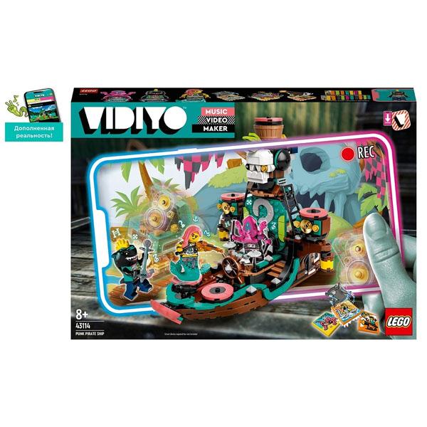 "LEGO VIDIYO 43114 Конструктор ЛЕГО Набор ""Корабль Пирата Панка"""