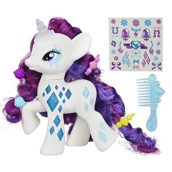 Hasbro My Little Pony B0367 Пони-модница Рарити мульти пульти мягкая игрушка принцесса луна 18 см со звуком my little pony мульти пульти