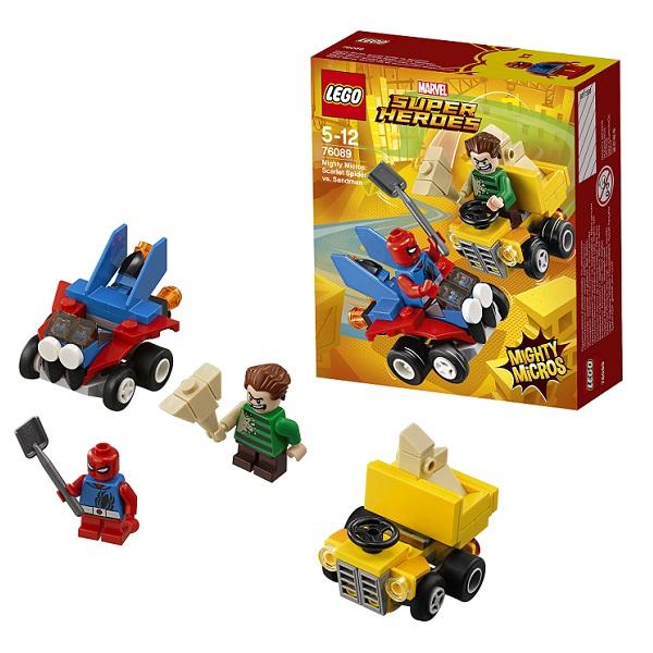 Lego Super Heroes Mighty Micros 76089 Спайдер-Мэн против Песочного человека