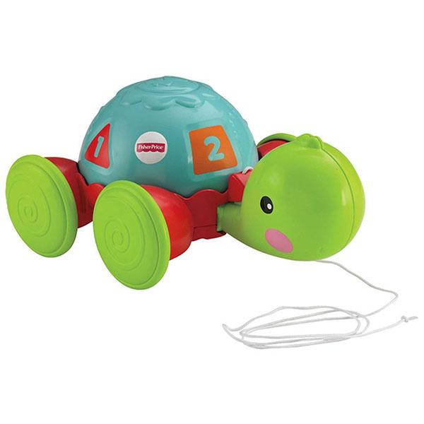 Mattel Fisher-Price Y8652 Фишер Прайс Обучающая черепашка на колесиках фишер прайс ударяй и играй