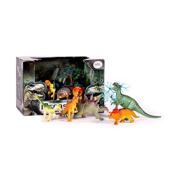 Megasaurs SV10690 Мегазавры Игровой набор динозавров (5 дино + дерево) (в ассортименте) игровые фигурки happy kin набор динозавров 41093