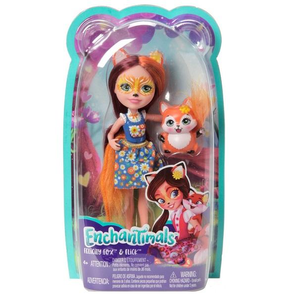 Mattel Enchantimals FXM71 Кукла с питомцем Лисичка Фелисити