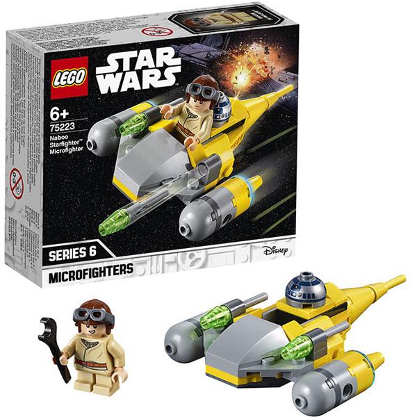 LEGO Star Wars 75223 Конструктор ЛЕГО Звездные войны Микрофайтеры: Истребитель с планеты Набу lego lego star wars 75092 истребитель набу™ naboo starfighter™