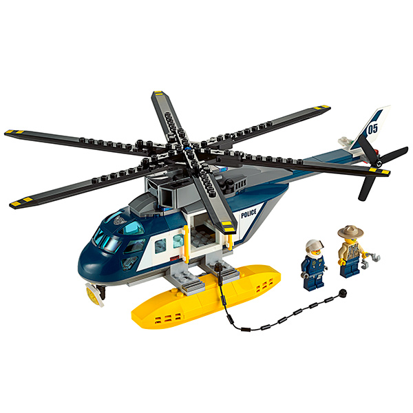 Lego City 60067 Конструктор Лего Город Погоня на полицейском вертолете