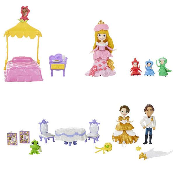 Hasbro Disney Princess B5341 Принцессы Дисней Маленькая кукла и сцена из фильма (в ассортименте) игрушка hasbro disney princess кукла принцесса дисней рапунцель и фонарики