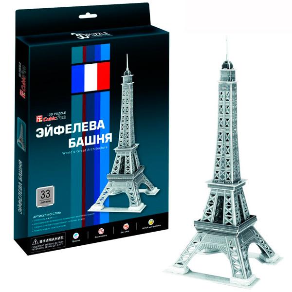 Cubic Fun C705h Кубик фан Эйфелева Башня 2 (Париж) cubic fun c045h кубик фан триумфальная арка париж