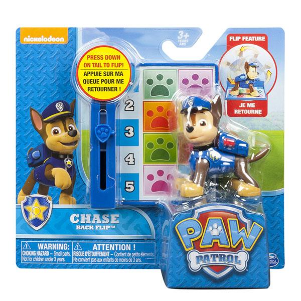 Paw Patrol 16600 Щенячий патруль Фигурка спасателя с доской для кувырков назад (в ассортименте)