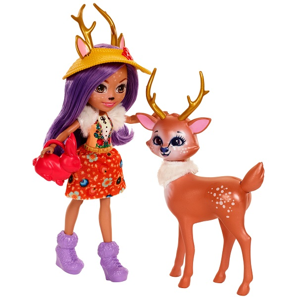 Mattel Enchantimals FDG01 Набор из двух кукол с любимыми зверюшками