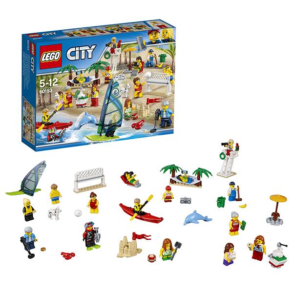 Lego City 60153 Лего Город Отдых на пляже - жители LEGO CITY lego 60139 город мобильный командный центр