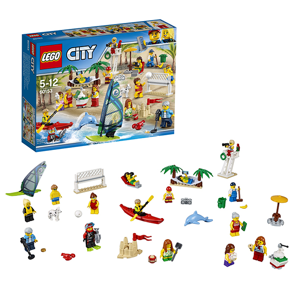 Lego City 60153 Конструктор Лего Город Отдых на пляже - жители LEGO CITY ноутбук apple macbook pro 13 mpxq2ru a retina dc ic i5 2 3ghz 8gb 128gb ssd int iris plus graphics 640 force touch trackpad space grey