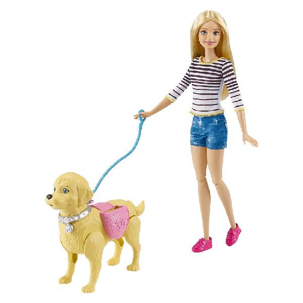 """Mattel Barbie DWJ68 Барби Игровой набор """"Прогулка с питомцем"""""""