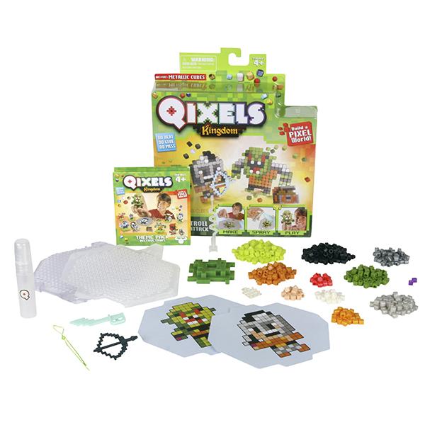 Qixels 87110 Квикселс Набор для творчества Атака троллей qixels 87053 квикселс набор для творчества машинка для создания 3d фигурок 3d принтер