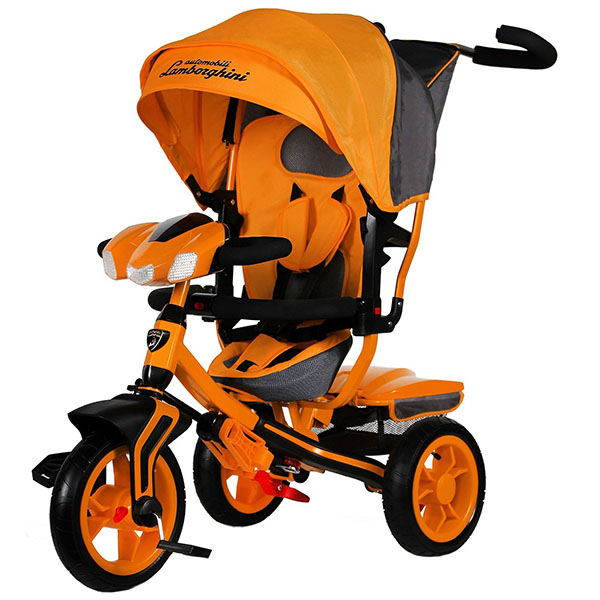LAMBORGHINI L3O Велосипед с руч. управ.,надув.колеса 12/10, своб.ход, ,фара свет.звук,оранж